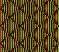 Abstract seamless background of red and black and green lines and squares Royalty Free Stock Photo