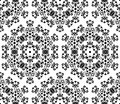 Abstract seamless background with symbolical floral black and white pattern Royalty Free Stock Image