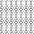 Abstract Seamless Black & White Geometric Ornament Pattern Of Fence Graphic Design Background Vector Illustration Royalty Free Stock Photo
