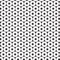 Abstract Seamless Black & White Ornament Pattern Of Line Geometric Object Graphic Design Background Vector Illustration Royalty Free Stock Photo