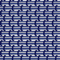 Abstract seamless blue pattern of horizontal doodle bars. Royalty Free Stock Photo