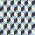 Abstract Seamless Checkered Cube Block Color Blue Pattern Background Royalty Free Stock Photo