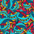 Abstract Seamless Colorful Pattern. Hand draw vector.