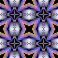 Abstract seamless 3d fractal pattern with stylized stars