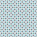 Abstract seamless decorative geometric blue green color pattern background Stock Images