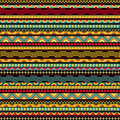 Abstract seamless ethnic pattern geometric african in vivid colors fancy multicolored background ornament vector file is Stock Image