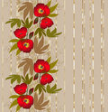 Abstract seamless floral pattern on beige background Royalty Free Stock Photo