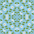 Abstract seamless floral pattern retro background vector illustration Royalty Free Stock Photography