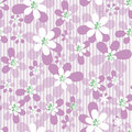 Abstract seamless floral pattern on striped white background Stock Photography