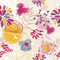 Abstract seamless floral retro background Royalty Free Stock Photo