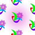 Abstract seamless flower texture.