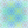Abstract seamless flowers pattern Royalty Free Stock Photos