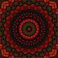 Abstract seamless folk ethno pattern mandala round