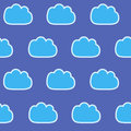 Abstract seamless gentle pattern with clouds. Colorful stylized hand drawn cloudy sky texture on light background. Cute cartoon an Royalty Free Stock Photo