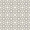 Abstract seamless geometric islamic wallpaper pattern Royalty Free Stock Photo