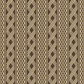 Wide stripes with alternate wicker lattices seamless pattern