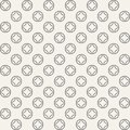 Abstract seamless geometric pattern of circles divided into four