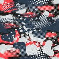Abstract seamless geometric pattern with geometric shapes, dots, colorful spray paint ink. Grunge urban pattern.