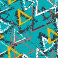 Abstract seamless geometric pattern with triangles. Grunge pattern for boys, girls, sport, fashion. Urban colorful wallpaper for g