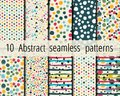 10 Abstract seamless geometric patterns