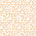 Abstract seamless lace pattern. Duotone graphic beige and white ornament. Geometric arabesque floral ornament