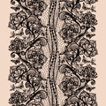 Abstract seamless lace pattern with flowers and butterflies infinitely wallpaper decoration for your design lingerie jewelry Stock Images