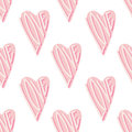 Abstract seamless love heart pattern for Valentine's Day. Cute holiday background.