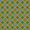 Abstract seamless  medieval cross pattern Stock Photography