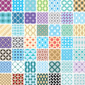Abstract seamless ornament patterns vector illustration Royalty Free Stock Images