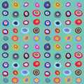Abstract seamless ornamental pattern with different circles