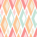 Abstract seamless pastel triangles pattern on white background Stock Photography