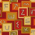 Abstract seamless pattern with African signs Royalty Free Stock Images