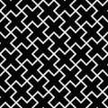 Abstract seamless pattern background. Mosaic of black geometric crosses with white outline. Vector illustration