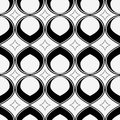 Abstract Seamless Pattern, black and white.