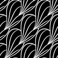 Abstract seamless pattern. Black and white monochrome background for textile and fabrics