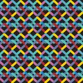 Abstract seamless pattern bright colored Geometric background rainbow color. Vector illustration