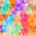 Abstract seamless pattern of bright colored triangles