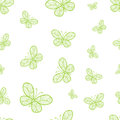 Abstract seamless pattern with butterflies beautiful spring for your design Stock Images