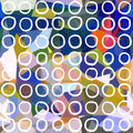 Abstract seamless pattern. Circles drawn on geometric background