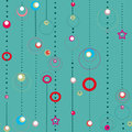 Abstract seamless pattern with circles on turquoise background Stock Photography