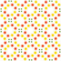 Abstract seamless pattern of a circular form