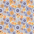Abstract seamless pattern with concentric circles Royalty Free Stock Photo