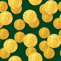 Abstract seamless pattern with dollar coins Stock Image