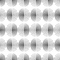 Abstract seamless pattern of dots and semitones. Wavy smooth change of parameters.