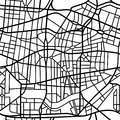 Abstract seamless pattern of a fictional city map Royalty Free Stock Photo