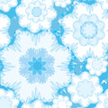 Abstract seamless pattern.  floral snow ornament Stock Images