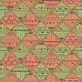 Abstract seamless pattern. Geometric figures, bright retro colors