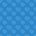 Abstract seamless pattern geometric heart and bird print Stock Photography