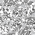 Abstract seamless pattern. Geometric line black and white orname
