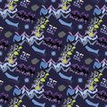 Abstract seamless  pattern for girls, boys, clothes. Creative background with dots, geometric figures Funny wallpaper for te Royalty Free Stock Photo